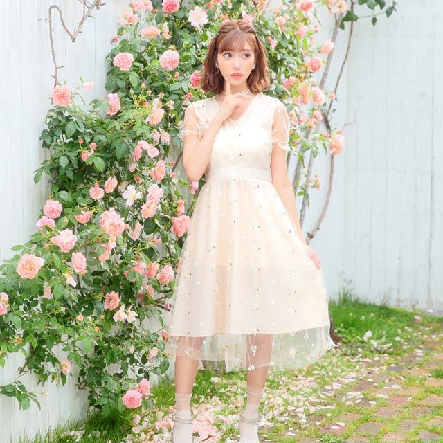 【明日花キララ着用/WhipBunny】[50%OFF!]Petite Fleur One-piece プティットフルールワンピース