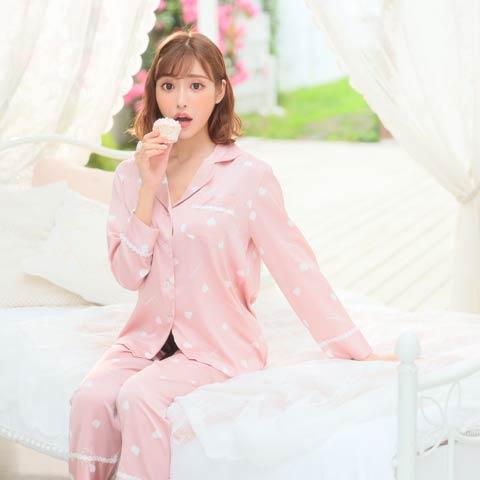 【明日花キララ着用/WhipBunny】Silky Heart Satin Pajamas シルキーハートサテンパジャマ