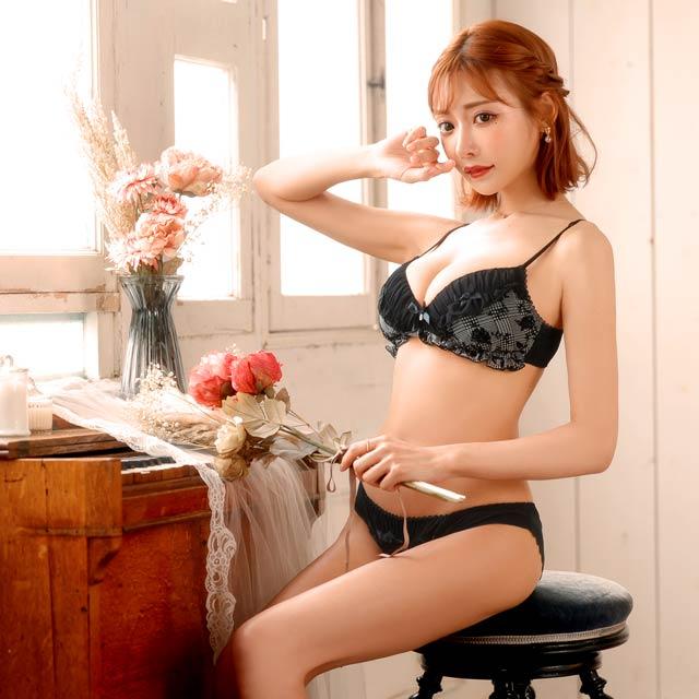 【明日花キララ着用/WhipBunny】Silhouette Rose Bra&Shorts シルエットローズブラレット&ショーツ/[b4u1y][Y415B]