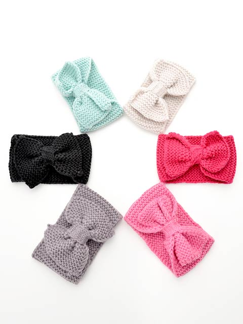[CARRIEFRANCA]Ribbon knit hair turban