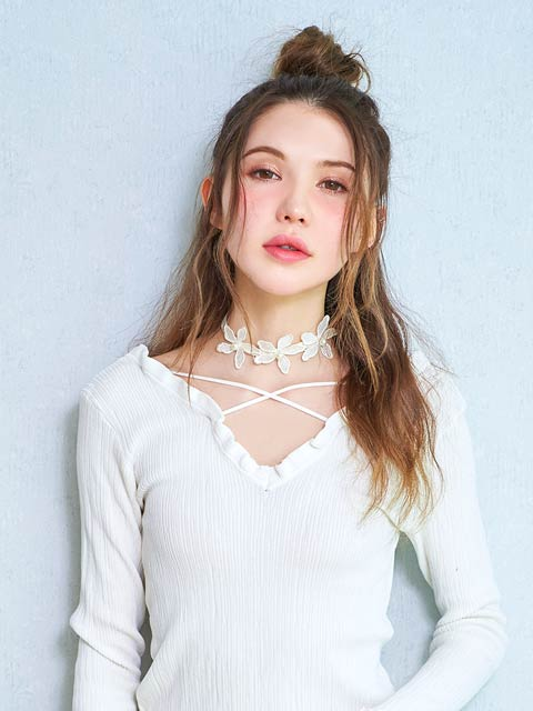 [CARRIEFRANCA]Flower crochet choker