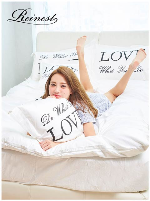 【Reinest】Love messeage Bedding [シングル:ベッドカバー6点セット]