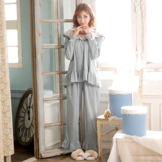 【明日花キララ着用/WhipBunny】Girly Lace Frill Pajama ガーリーレースフリルパジャマ