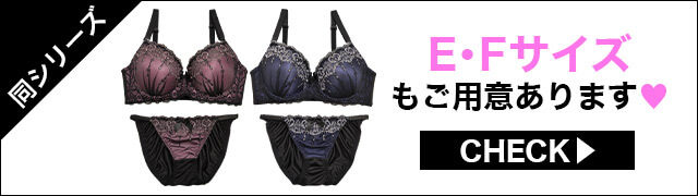 【EFサイズ】エレガンスハート刺繍ブラジャー&フルバックショーツ
